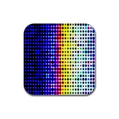 A Creative Colorful Background Rubber Coaster (square)