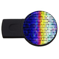 A Creative Colorful Background Usb Flash Drive Round (2 Gb)