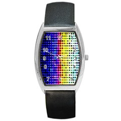 A Creative Colorful Background Barrel Style Metal Watch
