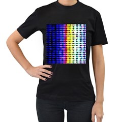 A Creative Colorful Background Women s T Shirt (black) (two Sided)