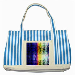 A Creative Colorful Background Striped Blue Tote Bag