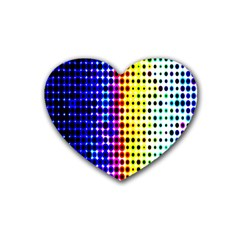 A Creative Colorful Background Rubber Coaster (Heart)