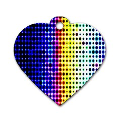 A Creative Colorful Background Dog Tag Heart (Two Sides)