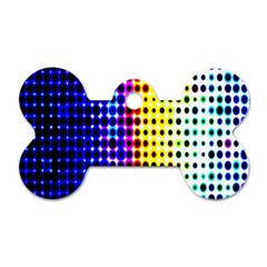 A Creative Colorful Background Dog Tag Bone (Two Sides)