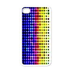A Creative Colorful Background Apple iPhone 4 Case (White)