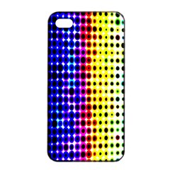 A Creative Colorful Background Apple Iphone 4/4s Seamless Case (black)