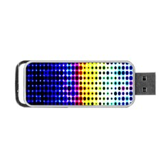 A Creative Colorful Background Portable USB Flash (One Side)