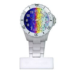 A Creative Colorful Background Plastic Nurses Watch