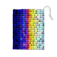 A Creative Colorful Background Drawstring Pouches (large)