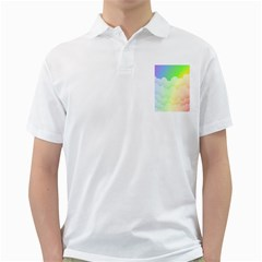 Cloud Blue Sky Rainbow Pink Yellow Green Red White Wave Golf Shirts