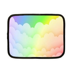 Cloud Blue Sky Rainbow Pink Yellow Green Red White Wave Netbook Case (Small)
