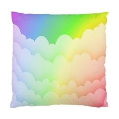 Cloud Blue Sky Rainbow Pink Yellow Green Red White Wave Standard Cushion Case (Two Sides)