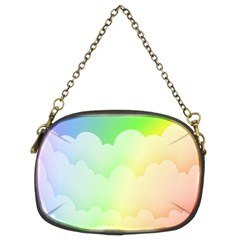 Cloud Blue Sky Rainbow Pink Yellow Green Red White Wave Chain Purses (Two Sides)