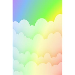 Cloud Blue Sky Rainbow Pink Yellow Green Red White Wave 5.5  x 8.5  Notebooks