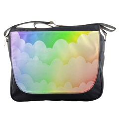 Cloud Blue Sky Rainbow Pink Yellow Green Red White Wave Messenger Bags