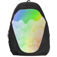 Cloud Blue Sky Rainbow Pink Yellow Green Red White Wave Backpack Bag