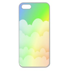 Cloud Blue Sky Rainbow Pink Yellow Green Red White Wave Apple Seamless iPhone 5 Case (Clear)