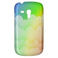 Cloud Blue Sky Rainbow Pink Yellow Green Red White Wave Galaxy S3 Mini
