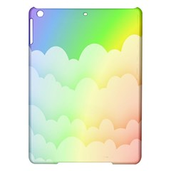 Cloud Blue Sky Rainbow Pink Yellow Green Red White Wave iPad Air Hardshell Cases