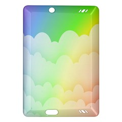 Cloud Blue Sky Rainbow Pink Yellow Green Red White Wave Amazon Kindle Fire HD (2013) Hardshell Case