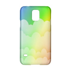 Cloud Blue Sky Rainbow Pink Yellow Green Red White Wave Samsung Galaxy S5 Hardshell Case