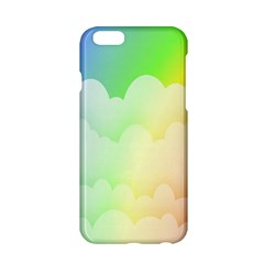 Cloud Blue Sky Rainbow Pink Yellow Green Red White Wave Apple iPhone 6/6S Hardshell Case