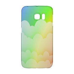Cloud Blue Sky Rainbow Pink Yellow Green Red White Wave Galaxy S6 Edge