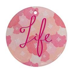 Life Typogrphic Ornament (round)