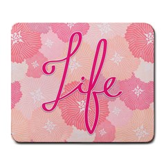 Life Typogrphic Large Mousepads