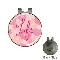 Life Typogrphic Hat Clips With Golf Markers