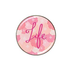 Life Typogrphic Hat Clip Ball Marker (10 pack)