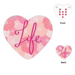 Life Typogrphic Playing Cards (Heart)