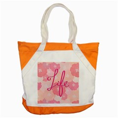 Life Typogrphic Accent Tote Bag