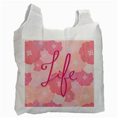 Life Typogrphic Recycle Bag (two Side)