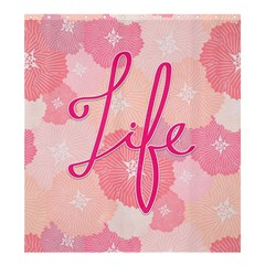 Life Typogrphic Shower Curtain 66  x 72  (Large)
