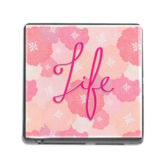 Life Typogrphic Memory Card Reader (square)