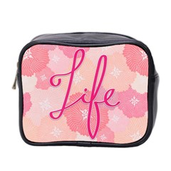 Life Typogrphic Mini Toiletries Bag 2 Side
