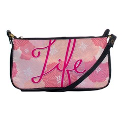 Life Typogrphic Shoulder Clutch Bags