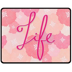 Life Typogrphic Fleece Blanket (Medium)