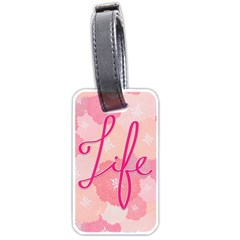 Life Typogrphic Luggage Tags (One Side)