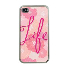 Life Typogrphic Apple iPhone 4 Case (Clear)