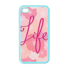 Life Typogrphic Apple iPhone 4 Case (Color)