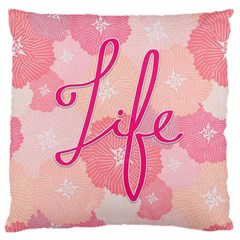 Life Typogrphic Large Cushion Case (two Sides)