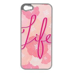 Life Typogrphic Apple iPhone 5 Case (Silver)