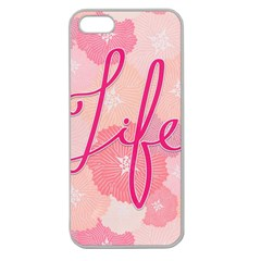 Life Typogrphic Apple Seamless iPhone 5 Case (Clear)