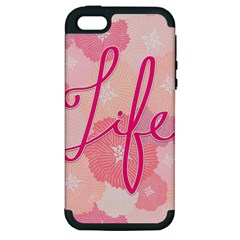 Life Typogrphic Apple Iphone 5 Hardshell Case (pc+silicone)