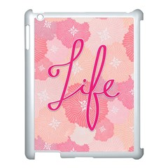 Life Typogrphic Apple iPad 3/4 Case (White)