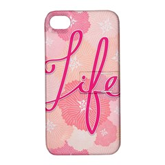 Life Typogrphic Apple iPhone 4/4S Hardshell Case with Stand