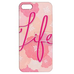 Life Typogrphic Apple Iphone 5 Hardshell Case With Stand