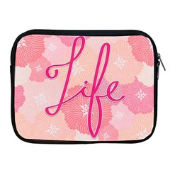 Life Typogrphic Apple iPad 2/3/4 Zipper Cases